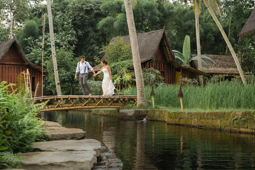 THE WEDDING | CAROLINE & BRENT at Bambu Indah Ubud  1